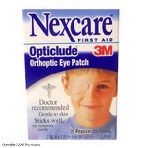 Nexcare Opticlude Eye Patch Reg 20's 881539