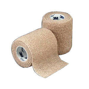 "Coban Non-Sterile Self-Adherent Wrap 1"""" x 5 yds., Tan 881581"