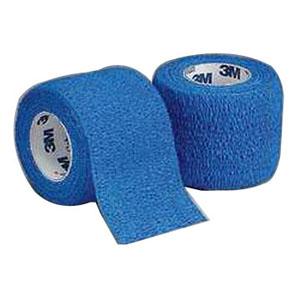 "Coban Non-Sterile Self-Adherent Wrap 1"""" x 5 yds., Blue 881581B"
