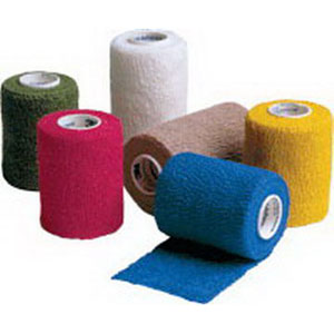 "Coban Non-Sterile Self-Adherent Wrap 3"""" x 5 yds., Color Assortment 881583A"