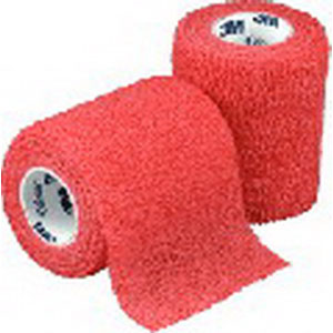 """Coban Non-Sterile Self-Adherent Wrap 3"""""""" x 5 yds., Red 881583R"""