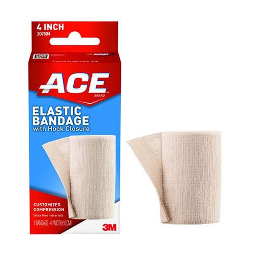 """Ace Elastic Bandage with Hook Closure, 4"""""""" 88207604"""