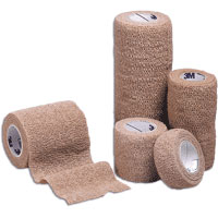 "Coban Non-Sterile Self-Adherent Wrap 4"""" x 5 yds., Tan 882084"