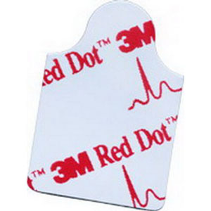 """3M Red Dot™ Resting EKG Electrode 1-3/4"""" x 7/8"""",Stretchable, Comfortable 882330"""