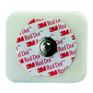 Red Dot ECG Monitoring Electrodes, Radiolucent, Foam, Diaphoretic, with Abrader 882570