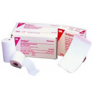 "3M Medipore™ Hypoallergenic Soft Cloth Surgical Tape, White, Water Resistant, Latex Free  1"" x 10 yds 882961"