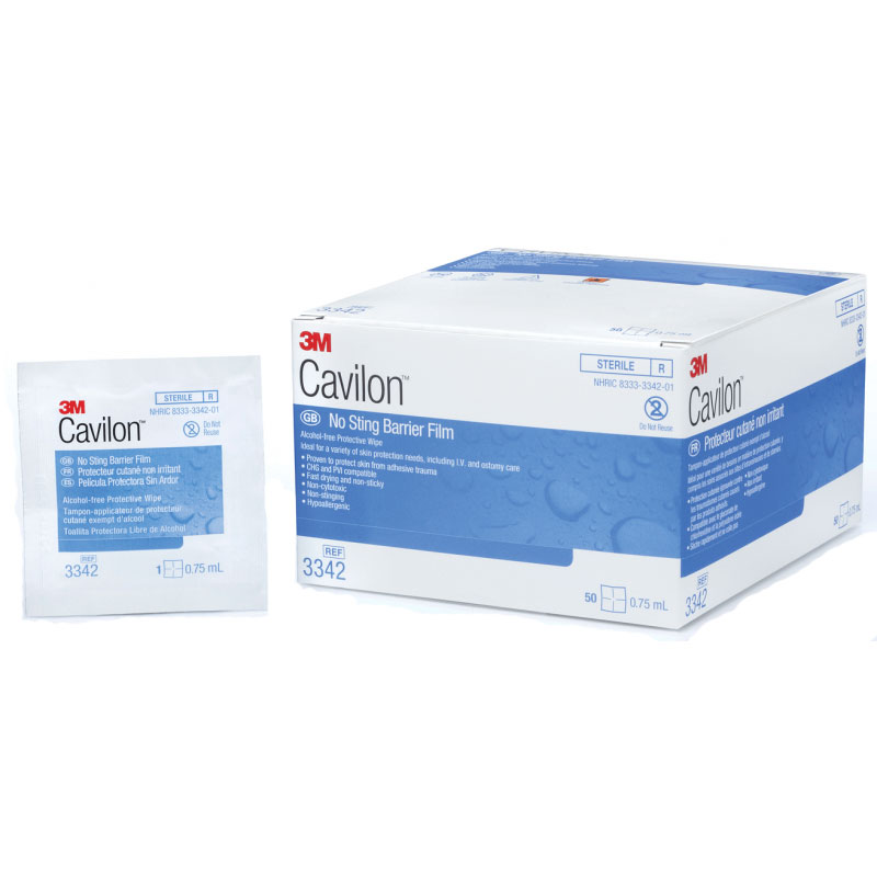 3M Cavilon No Sting Barrier Film, .75ml Wipes, Alcohol-Free 883342