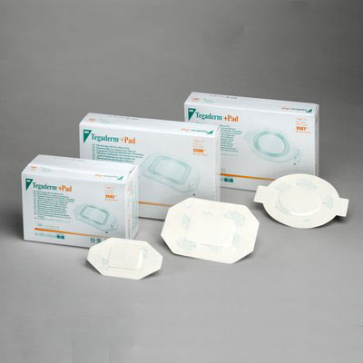 """Tegaderm Film Dressing with Non-Adherent Pad 3-1/2"""""""" x 4-1/8"""""""" Oval 883587"""