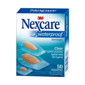 Nexcare Waterproof Bandage Assorted, Clear 8843250