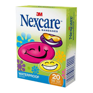 Nexcare Tattoo Waterproof Bandages, Cool Collection 8859420