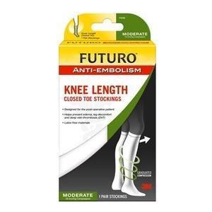 FUTURO Anti-Embolism Knee Length Stockings, Large 8871057EN