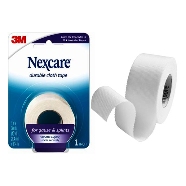 """Nexcare Durable Cloth First Aid Tape, 1"""""""" x 10 Yrds, Carded 887911PK"""
