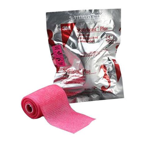 """3M™ Scotchcast™ Plus Casting Tape, 4"""" x 4yd, Bright Pink 8882004X"""