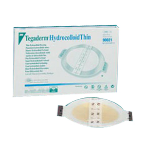 "Tegaderm Hydrocolloid Thin Dressing, 5-1/4"""" x 6"""" with 4"""" x 4-3/4"""" Pad 8890023"