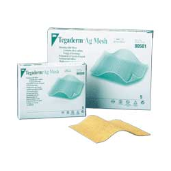 """Tegaderm Sterile Ag Mesh Dressing with Silver 4"""""""" x 8"""""""" 8890502"""