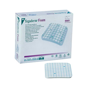 """Tegaderm Non-Adhesive Fenestrated Foam Dressing 3-1/2"""""""" x 3-1/2"""""""" 8890604"""