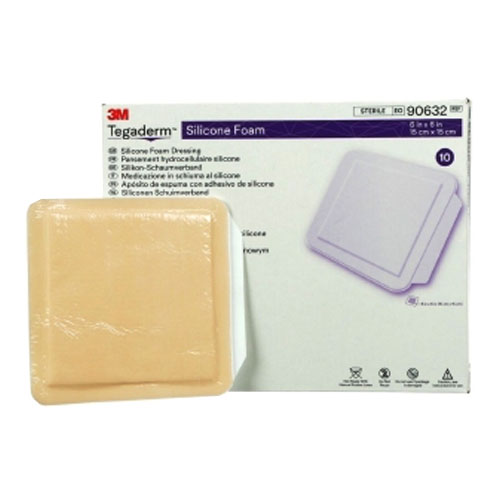 "Tegaderm Silicone Foam Non-Bordered Dressing, 6"""" x 6"""" 8890632"