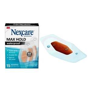 Nexcare Max Hold Bandage, Assorted Sizes, 15 ct 88MHW15