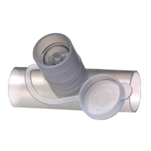 Teleflex In-Line Valved Neb Tee 22mm O.D. x 18mm I.D. x 22mm O.D. Connections 921744