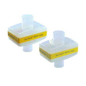 Teleflex Iso-Guard® HEPA Light Filter, 22mm I.D./15mm O.D. x 22mm O.D./15mm I.D. Connector, Straight 9228012
