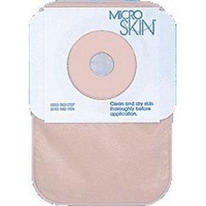 """One-piece Colostomy Closed-end Pouch with Microskin® Adhesive Plain Barrier and MicroDerm™ Thin Washer 1"""" Stoma Opening 9385425"""