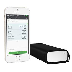 """Qardio Arm Smart Blood Pressure Monitor 1-1/2"""" x 5-1/2"""" x 2-7/10"""" 94A100"""