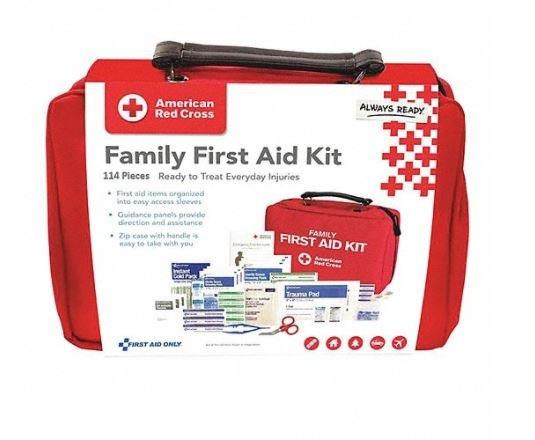 American Red Cross Deluxe Family First Aid Kit, Soft/Large, 114 pc ACE9162RC001