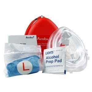 AMBU CPR Mask (EMT Grade) With Gloves And Wipes ACEM573AMBU