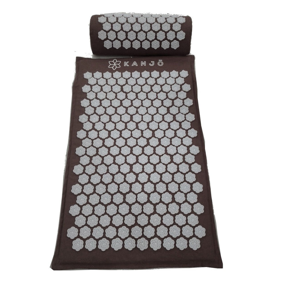 Kanjo Memory Foam Acupressure Mat Set, Onyx ACNKANONYM