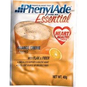 Applied Nutrition Corp PhenylAde® Essential Drink Mix 40g Pouch, 157 Calories, Orange Creme Flavor AD95034