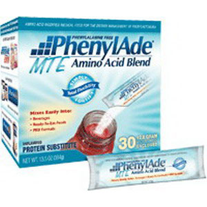 Applied Nutrition Corp PhenylAde® Amino Acid Blend 12.8g Pouch, 40 Calories, Unflavored MTE, Phenylalanine-free, Low-protein  AD95964