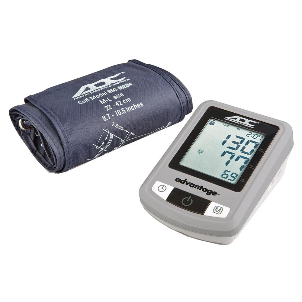 Advantage Automatic Digital Blood Pressure Monitor, Large Adult, Navy, Latex Free ADC6021NX