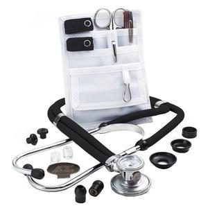Adscope Sprague Stethoscope with Accessory Pack, Black. ADC641BKQ