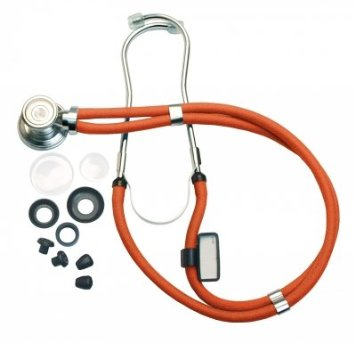 Sprague-Rappaport Type Stethoscope with Accessory Pack, Neon Orange ADC641NO