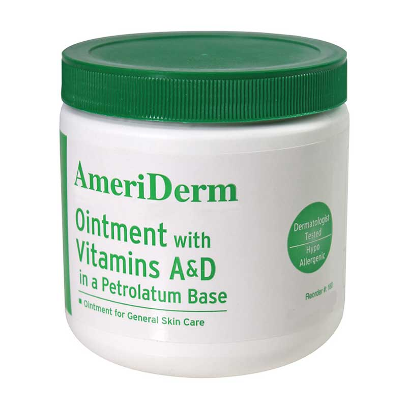 Ameriderm Ointment with Vitamins A and D 15 oz Jar, Lanolin Enriched ADM160