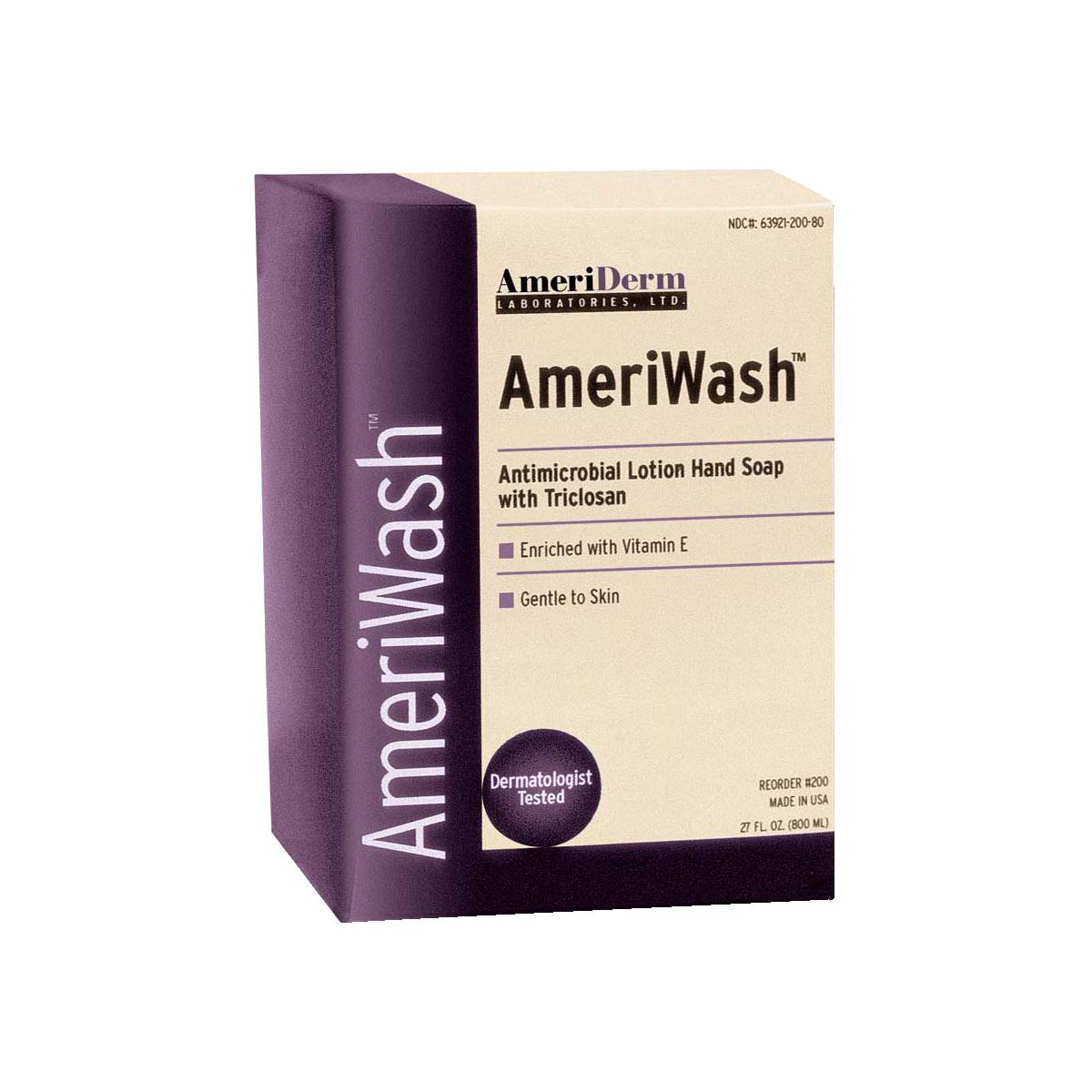 AmeriWash Antimicrobial Lotion Soap with Triclosan, 800 mL ADM200