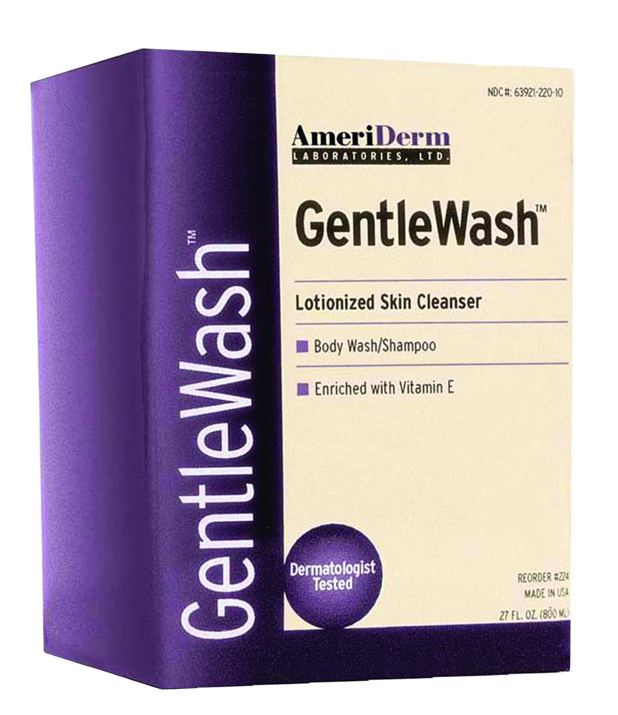 GentleWash Body Wash/Shampoo, 800 mL ADM224