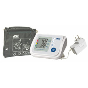 A&D Medical Upper Arm Automatic Blood Pressure Monitor with AD Adapter and AccuFit™ Plus Cuff AEUA767FAC
