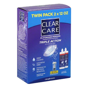 Clear Care Cleaning and Disinfection Contact Solution, 2 x 12 oz. ALC10059412