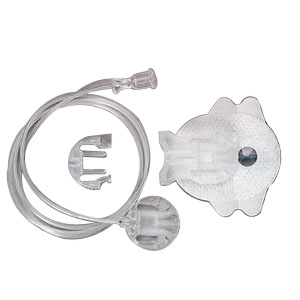 """Comfort™ Infusion Set 43"""" L Tubing, 17mm Cannula, 10 to 45° Insertion Angle, Luer Lock Connection AN10000600"""