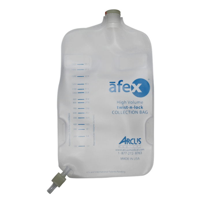 Afex Collection Bag, Direct Connect, 1000ml, Extra Capacity, Non-Vented ARSA400E