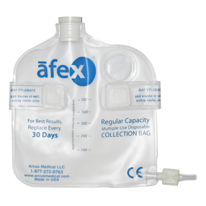 Afex Collection Bag, Direct Connect, 500ml, Standard, Vented ARSA400V