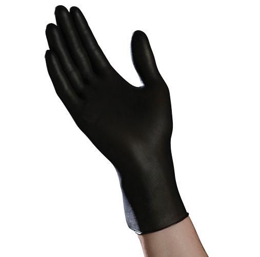 Ambitex Nitrile Exam Gloves, Black, Small AXNSM200BLK