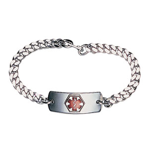 Apothecary Products Blank Med ID Bracelet, 8-1/2'' L AY92002