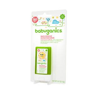 Babyganics Pure Mineral Sunscreen Stick, 50 SPF, .47 oz BBY12085