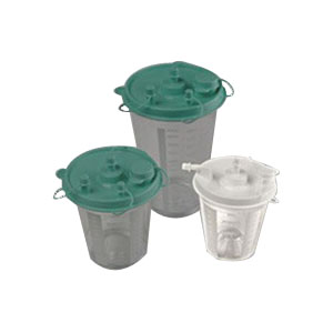Allied Healthcare Inc Disposable Suction Canister 800cc, Plastic BFS1160BACS