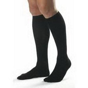 BSN Jobst® Classic SupportWear Men's Knee-High Mild Compression Socks, Closed-Toe, Black, XL BI110304