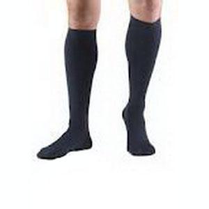 BSN Jobst® Men's Classic SupportWear Knee-High Mild Compression Socks, Closed Toe, XL, Navy BI110339