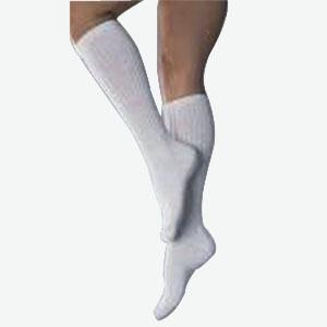 SensiFoot Knee-High Mild Compression Diabetic Sock Large, White BI110833
