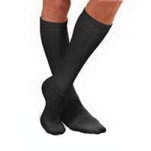 SensiFoot Crew Length Mild Compression Diabetic Sock Medium, Black BI110852